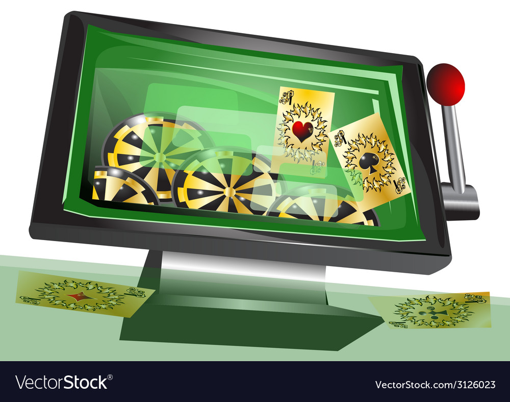 Online gambling vector | Price: 1 Credit (USD $1)