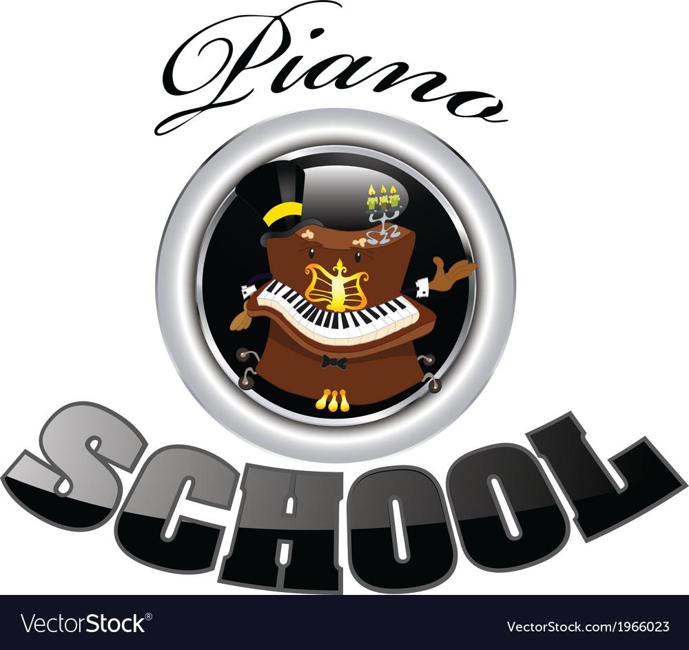 Piano school 3 vector | Price: 1 Credit (USD $1)