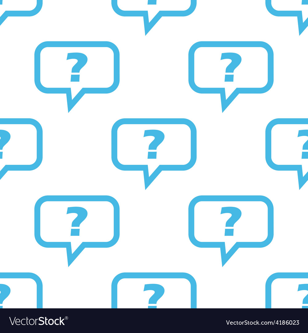 Question seamless pattern vector | Price: 1 Credit (USD $1)