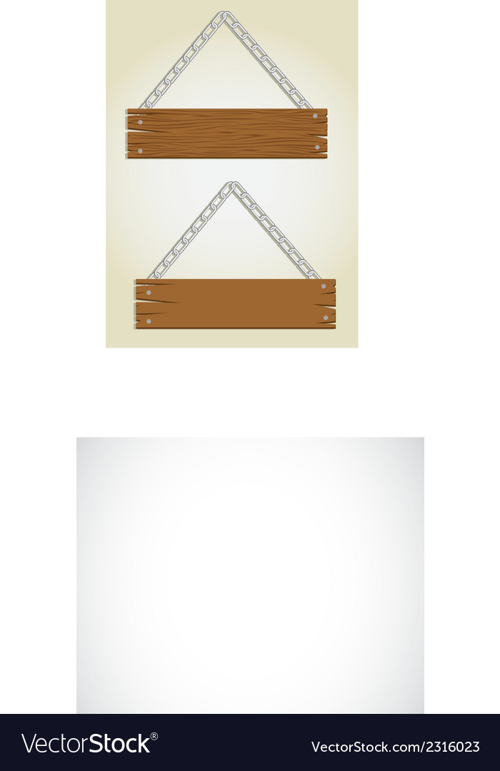 Wooden boards with chain for messages vector   Price: 1 Credit (USD $1)