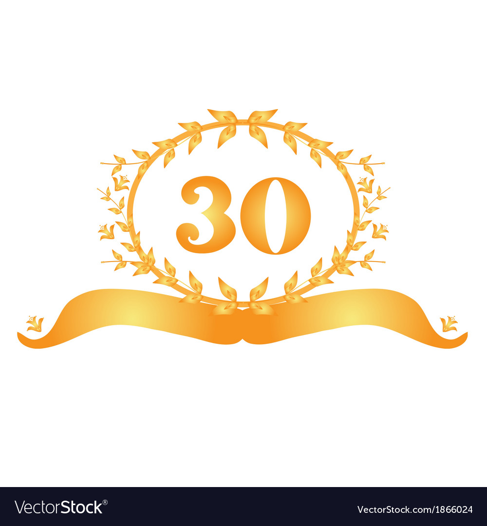 30th anniversary banner vector | Price: 1 Credit (USD $1)
