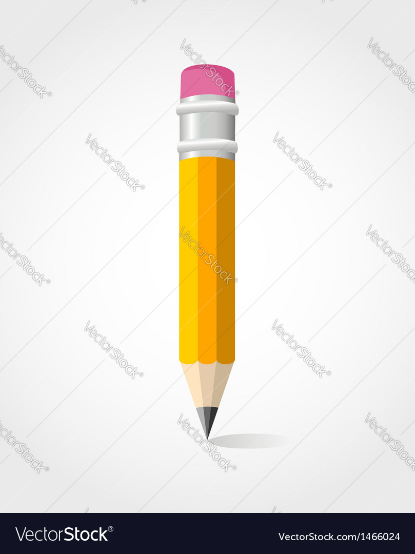 Back to school yellow pencil vector | Price: 1 Credit (USD $1)