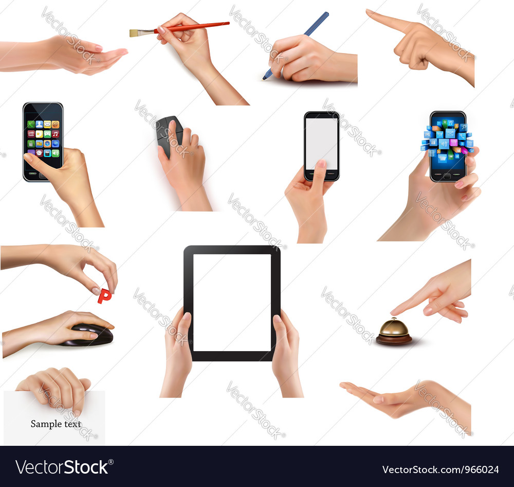 Business peoples hands vector | Price: 10 Credit (USD $10)