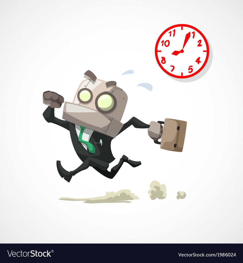 Businessman rush hour vector | Price: 1 Credit (USD $1)