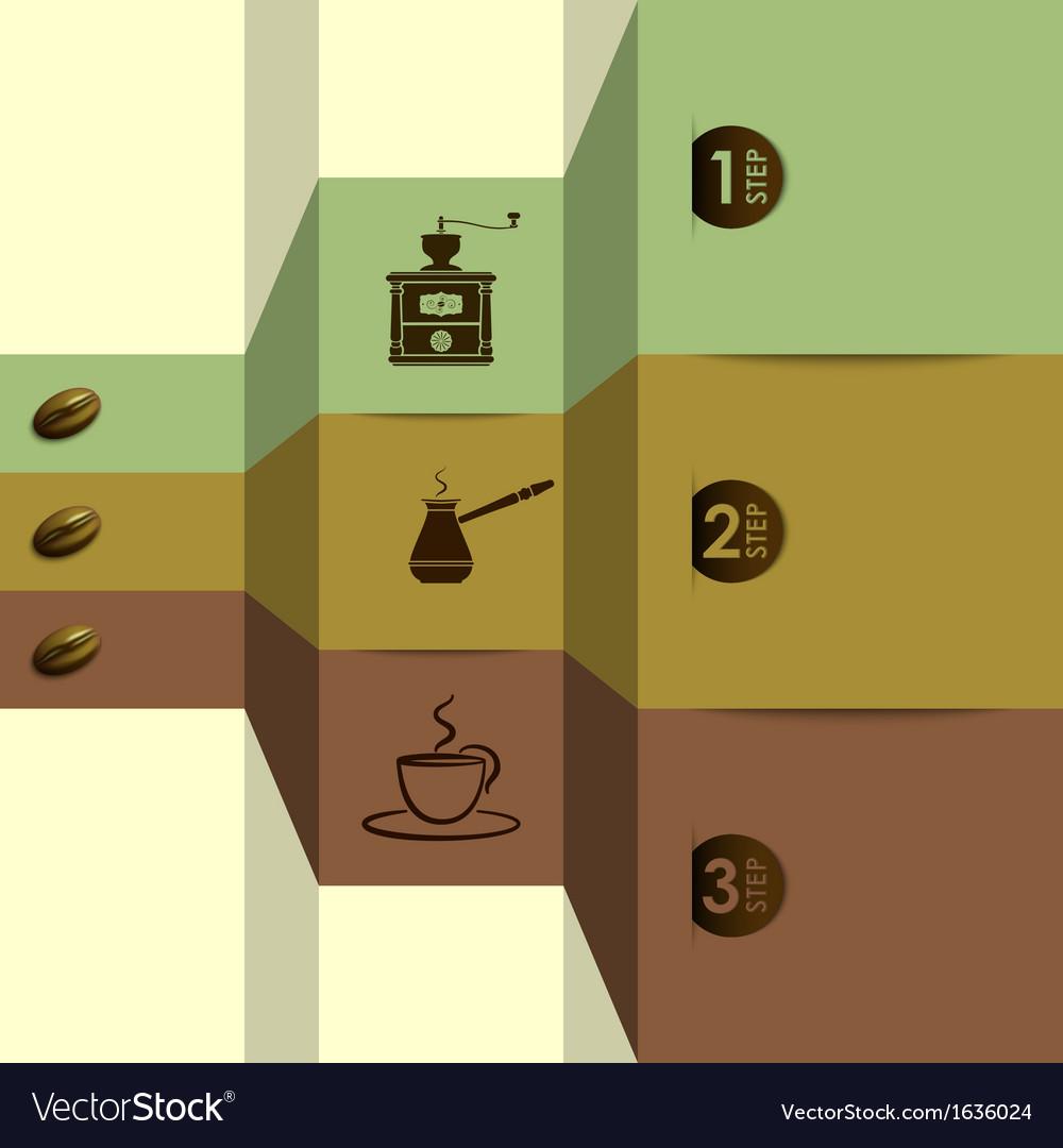 Coffee options vector | Price: 1 Credit (USD $1)