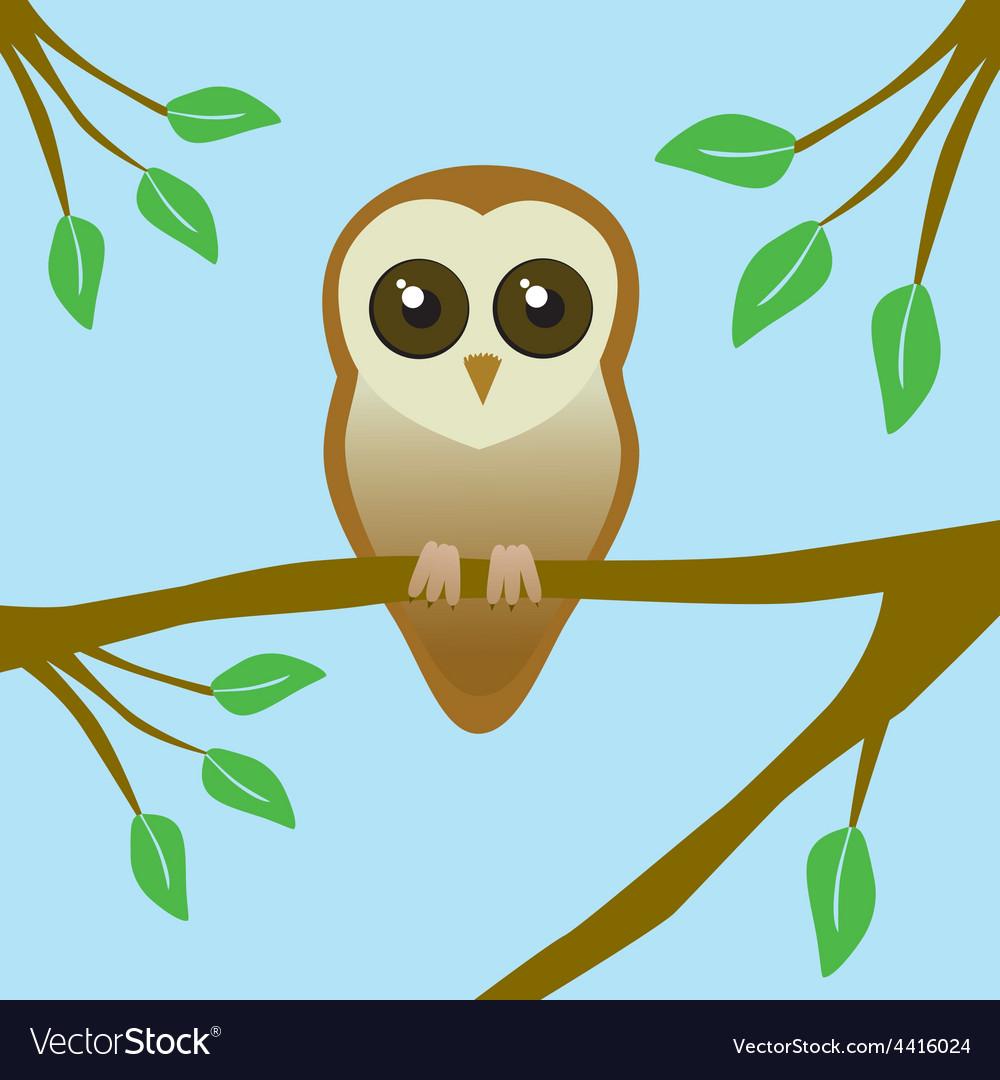 Cute barn owl vector | Price: 1 Credit (USD $1)