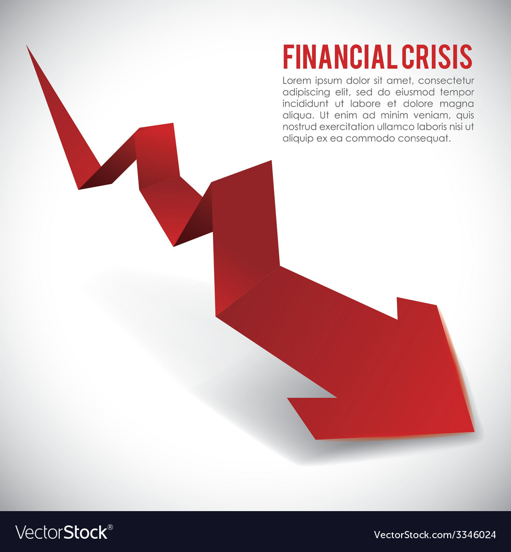 Financial crisis design vector | Price: 1 Credit (USD $1)