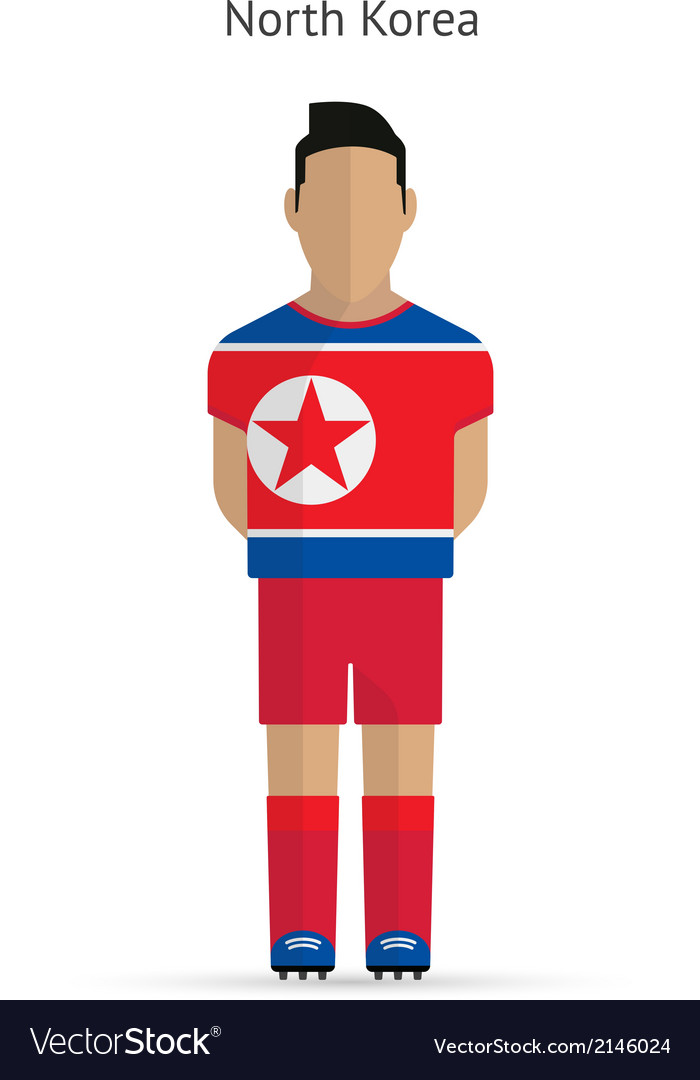 North korea football player soccer uniform vector | Price: 1 Credit (USD $1)
