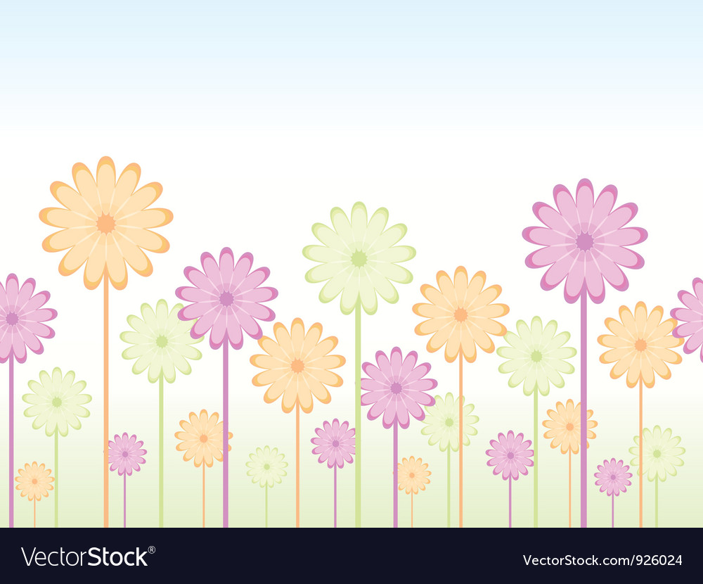 Seamless flower background vector | Price: 1 Credit (USD $1)