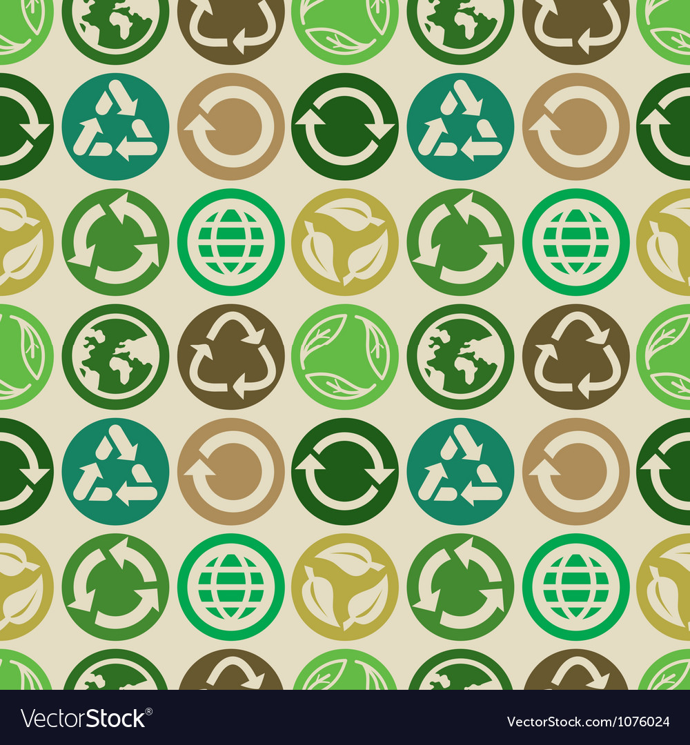 Seamless pattern with ecology signs vector | Price: 1 Credit (USD $1)