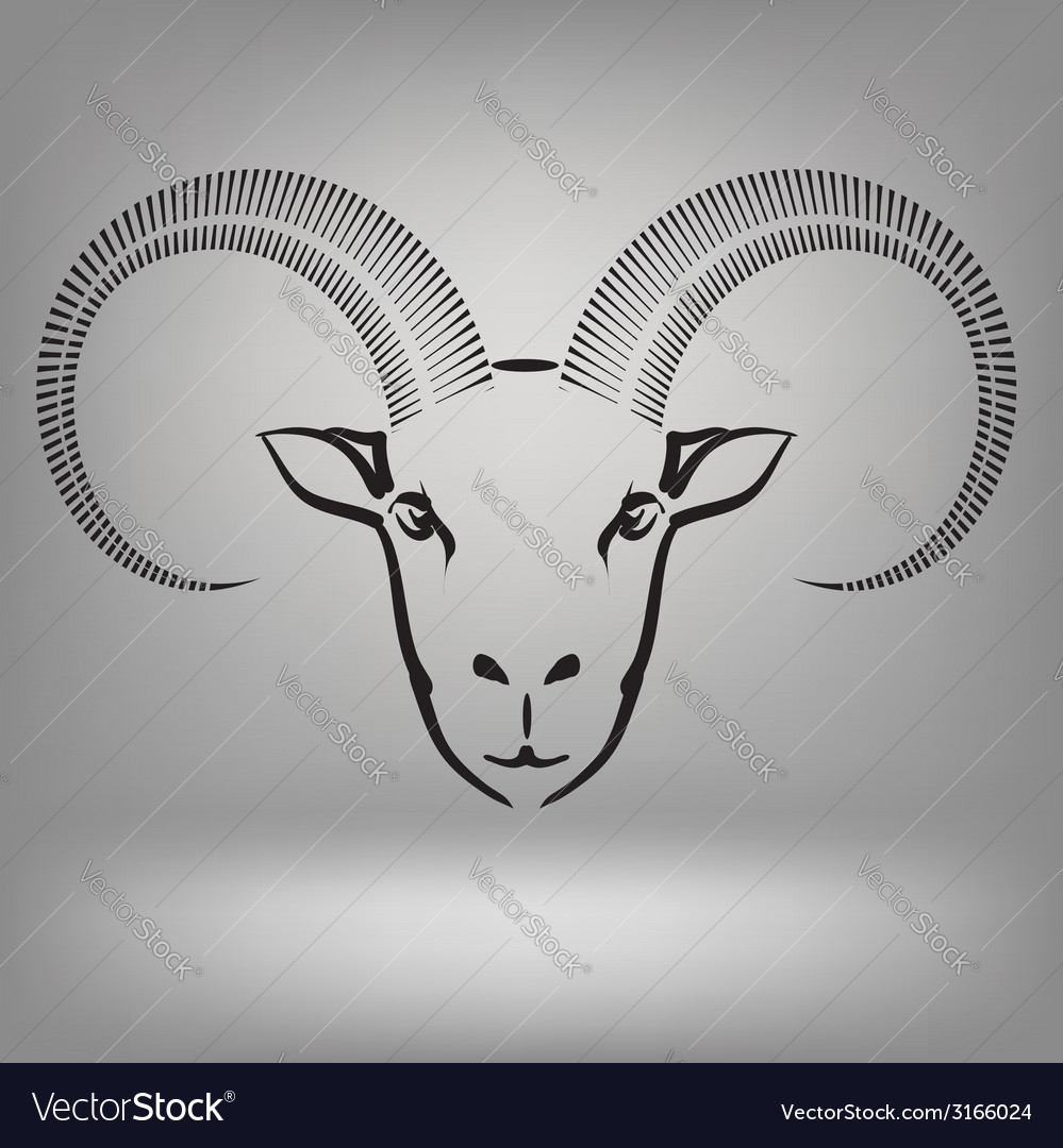 Symbol of goat vector | Price: 1 Credit (USD $1)