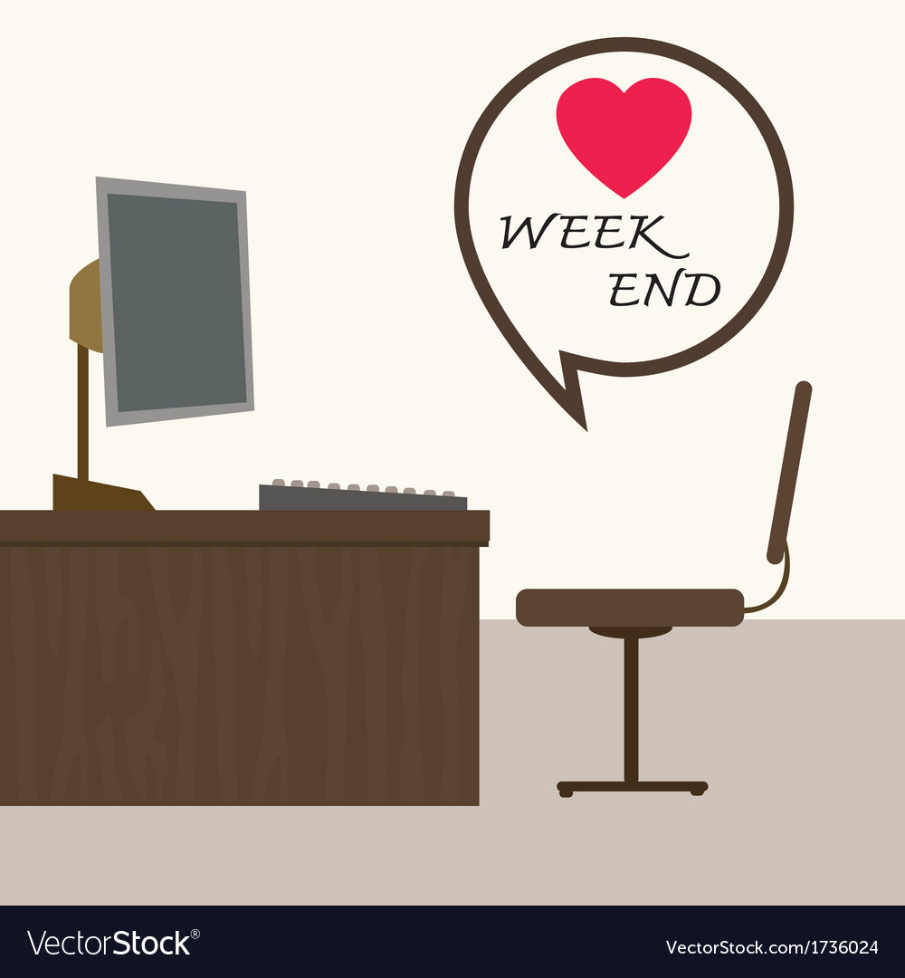 Weekend at office vector | Price: 1 Credit (USD $1)