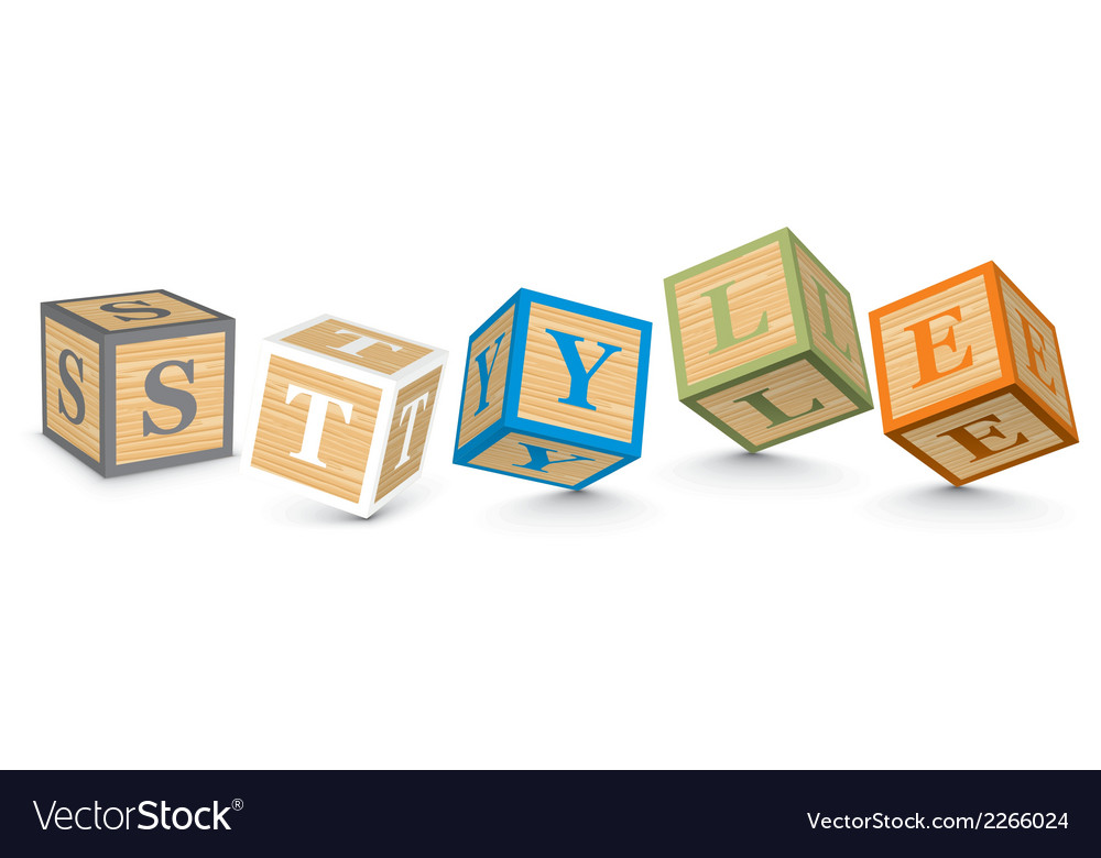 Word style written with alphabet blocks vector | Price: 1 Credit (USD $1)