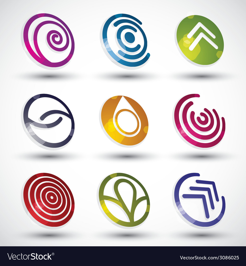 Abstract icons set vector | Price: 1 Credit (USD $1)