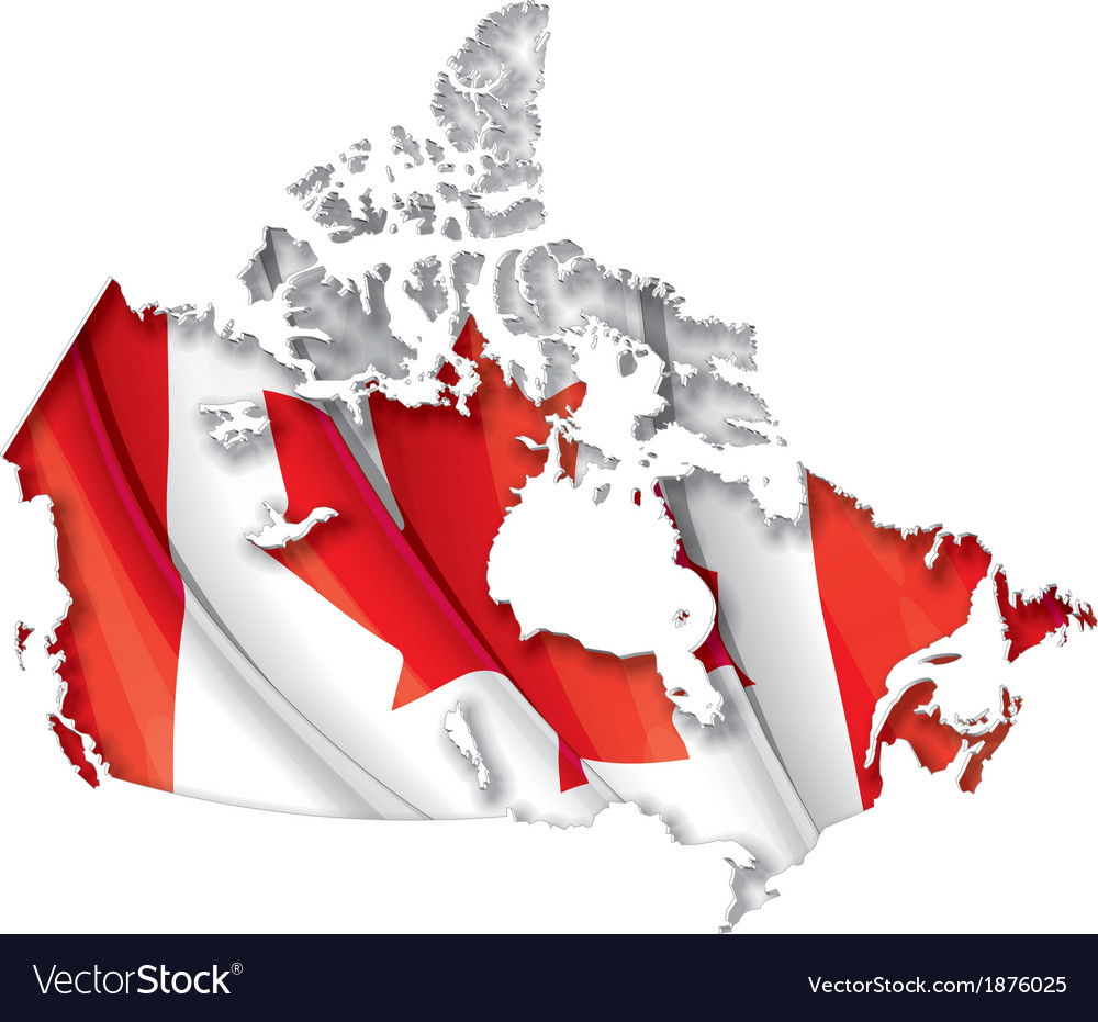 Canadian map flag vector | Price: 1 Credit (USD $1)