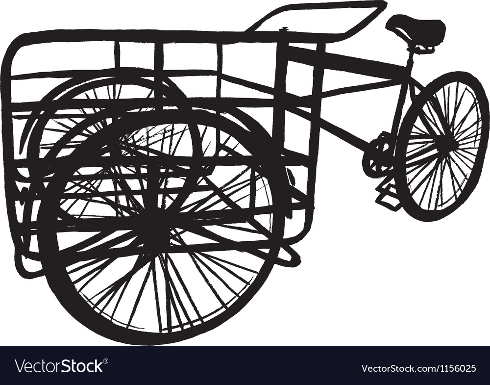 Cargo bike vector | Price: 1 Credit (USD $1)