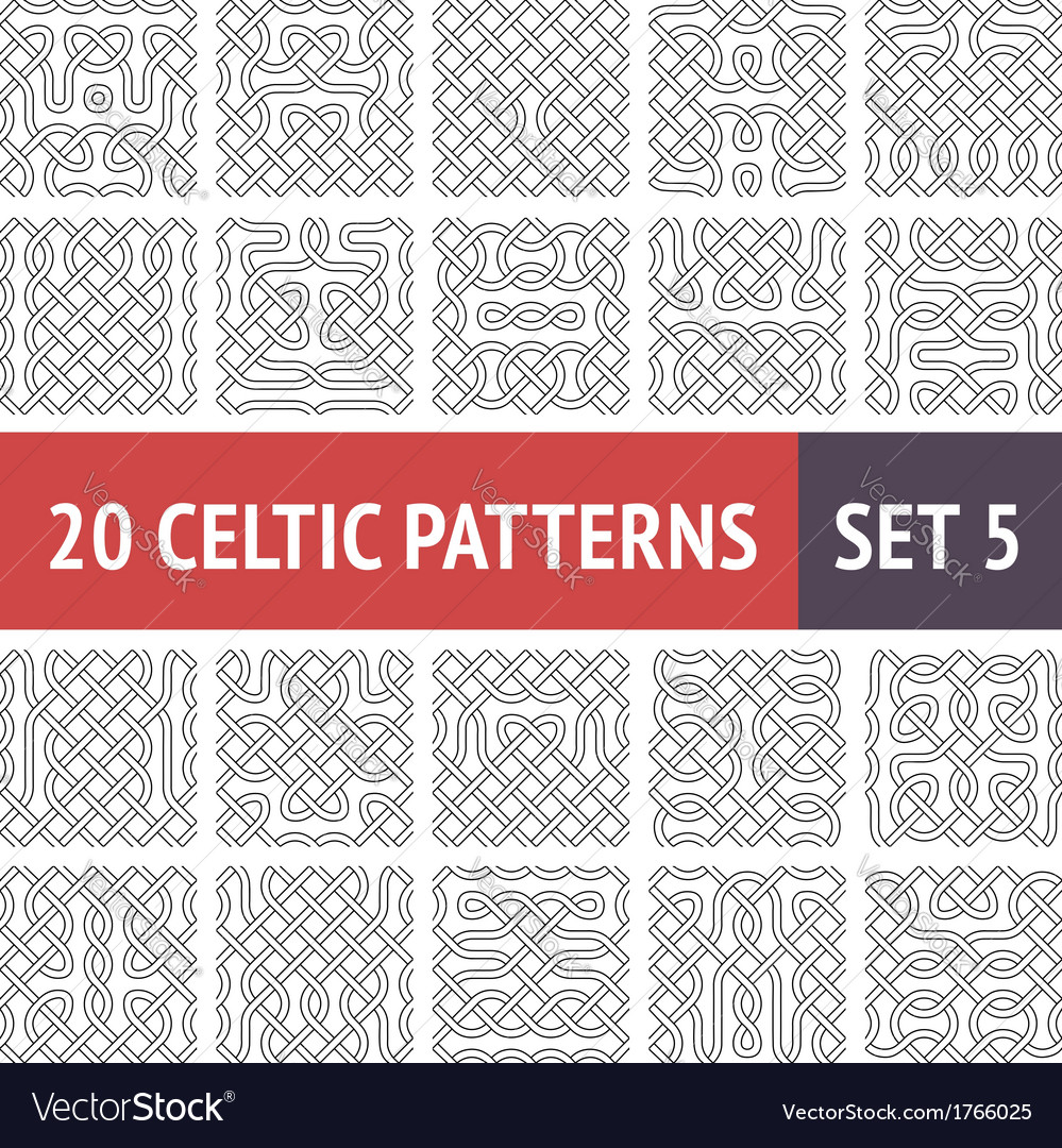 Celtic patterns set vector | Price: 1 Credit (USD $1)