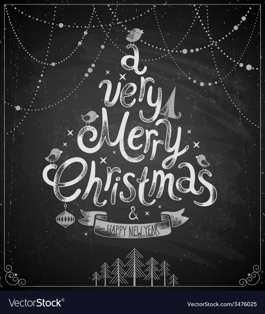 Christmas chalkboard card vector | Price: 1 Credit (USD $1)