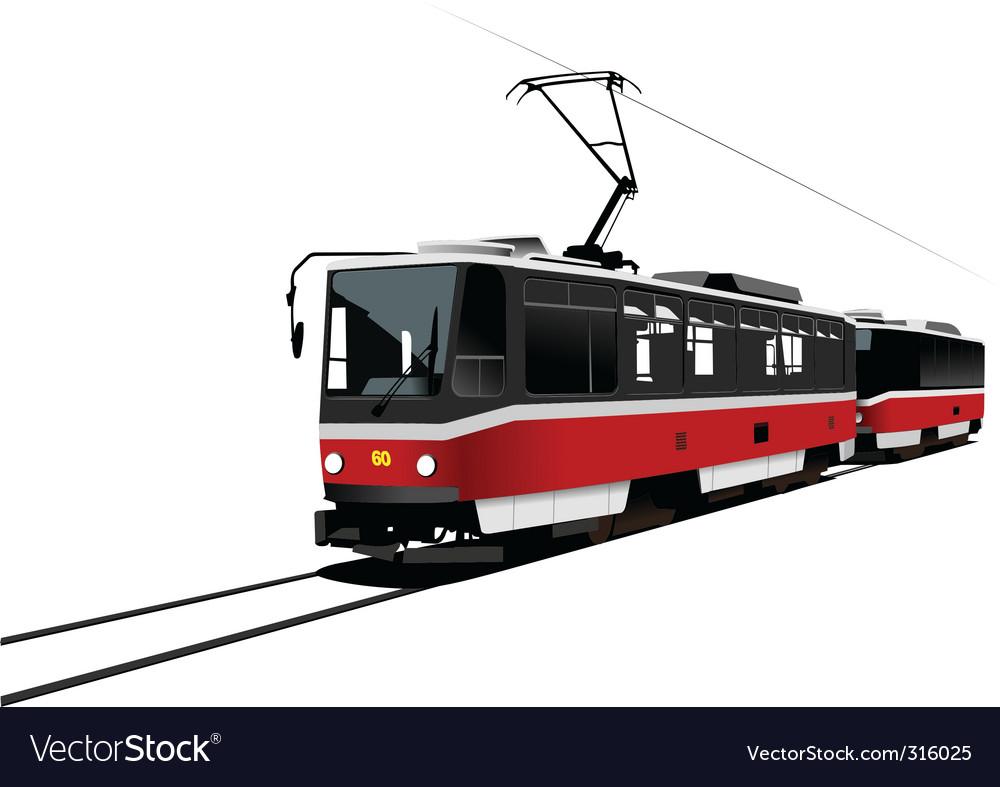 City tram vector | Price: 3 Credit (USD $3)