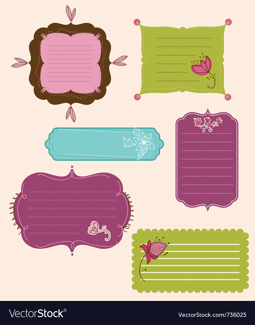 Collection of design retro tags vector | Price: 1 Credit (USD $1)