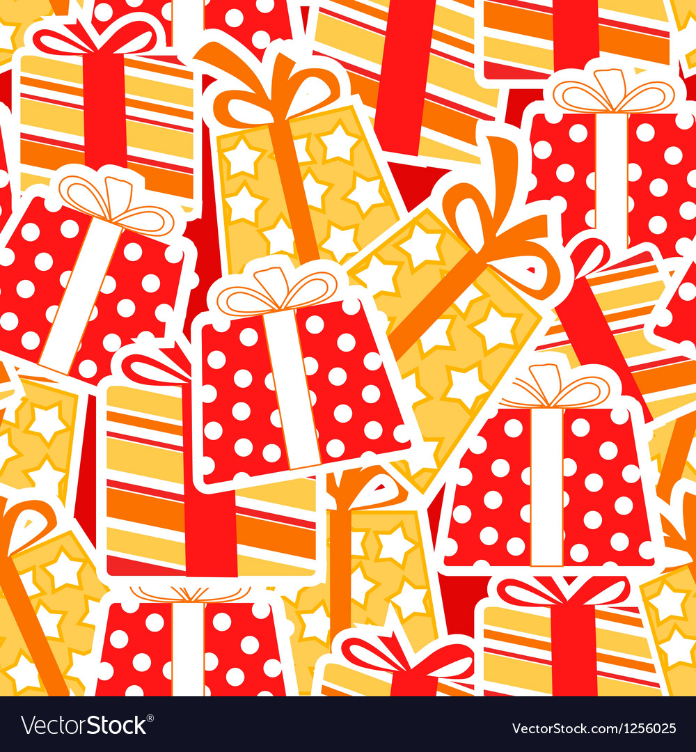 Gift boxes seamless background vector | Price: 1 Credit (USD $1)
