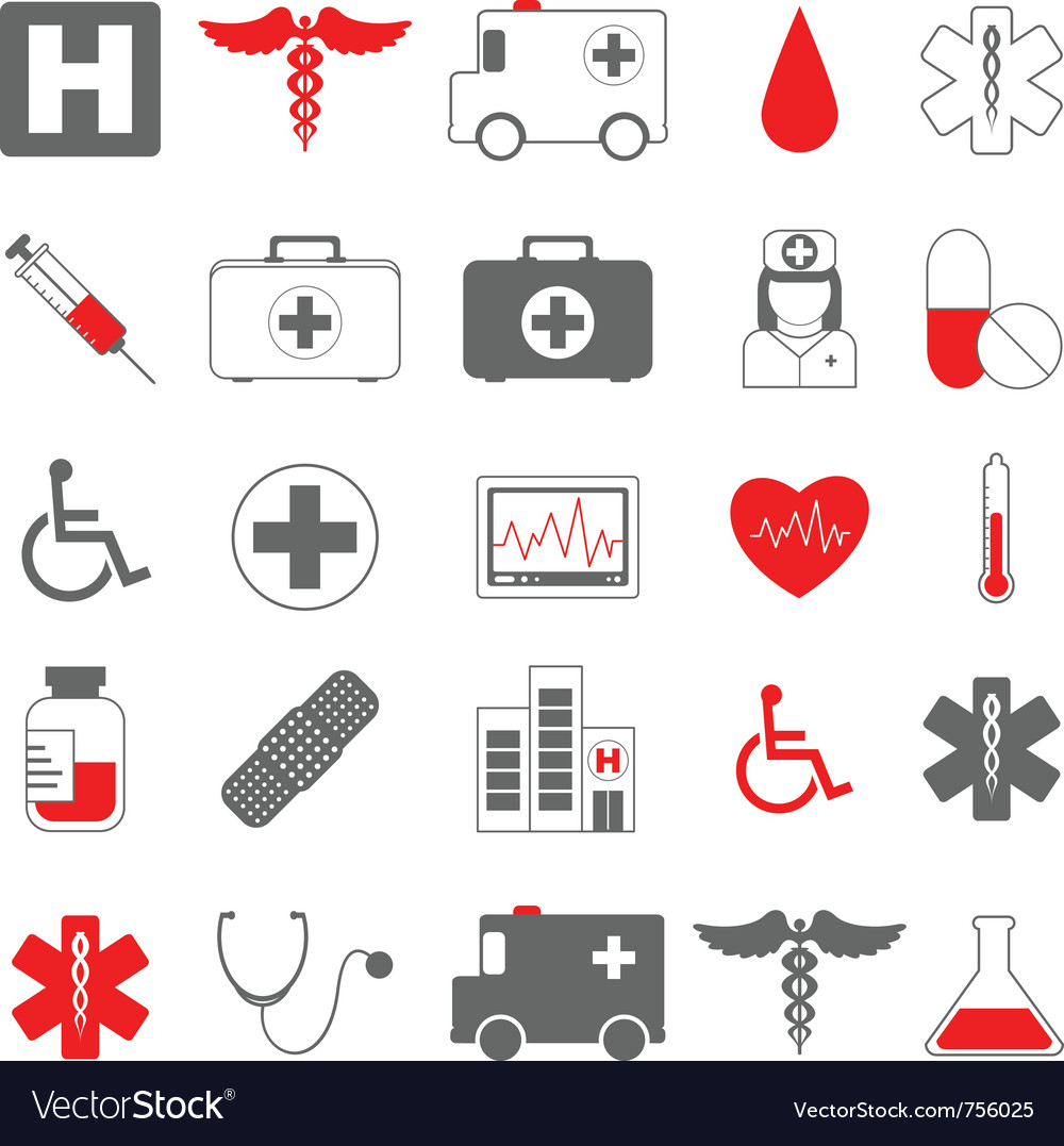 Healthcare and medical icons vector | Price: 1 Credit (USD $1)