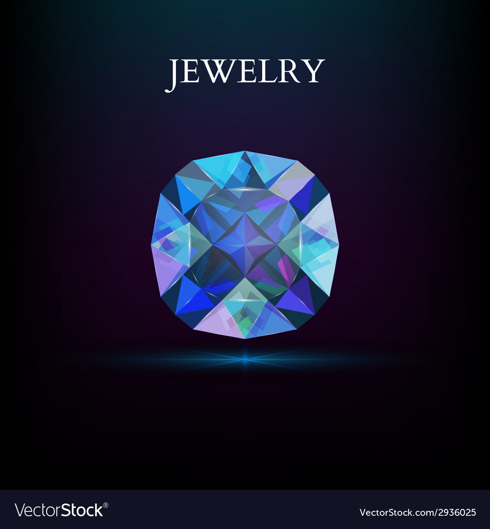 Jewelry gemstone vector | Price: 1 Credit (USD $1)