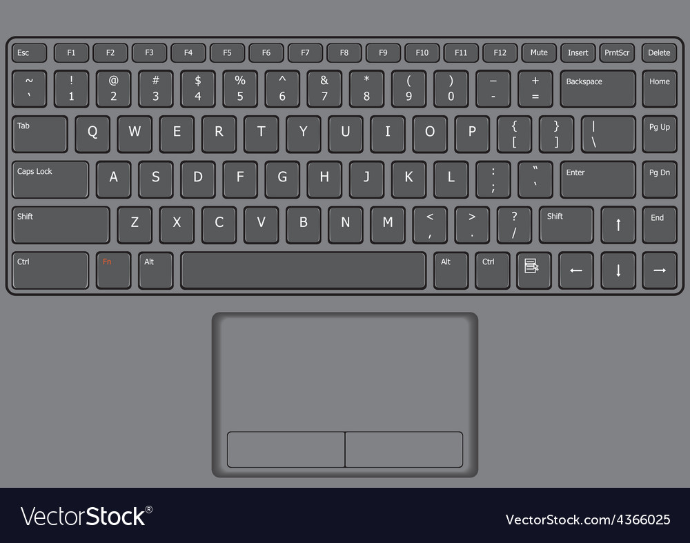 Laptop keyboard us vector | Price: 1 Credit (USD $1)