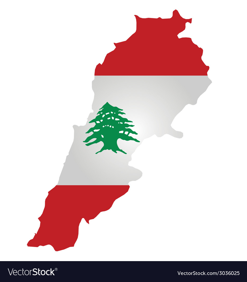 Lebanon flag vector | Price: 1 Credit (USD $1)