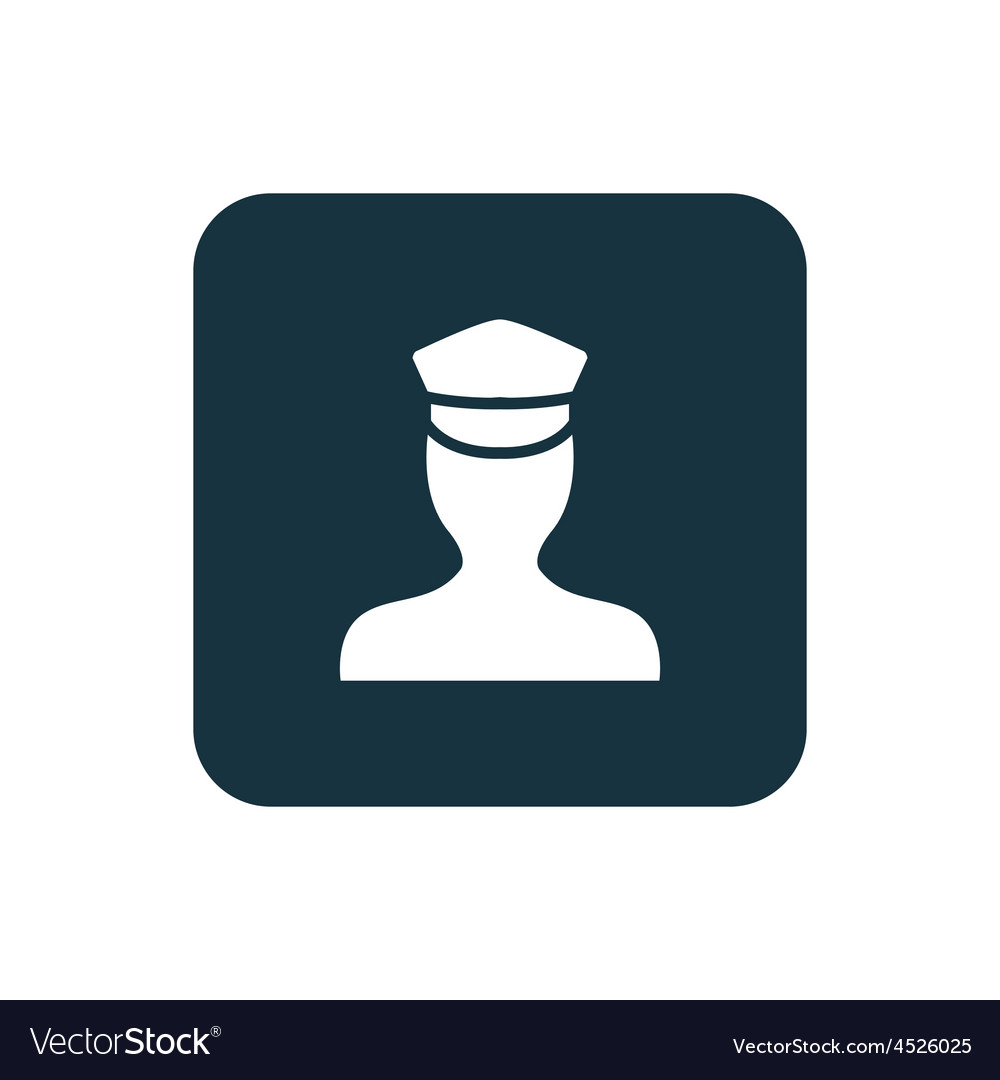 Policeman icon rounded squares button vector | Price: 1 Credit (USD $1)