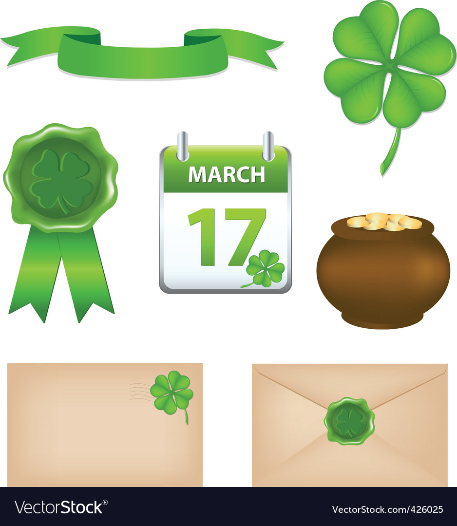 St patrick's day symbols vector | Price: 1 Credit (USD $1)