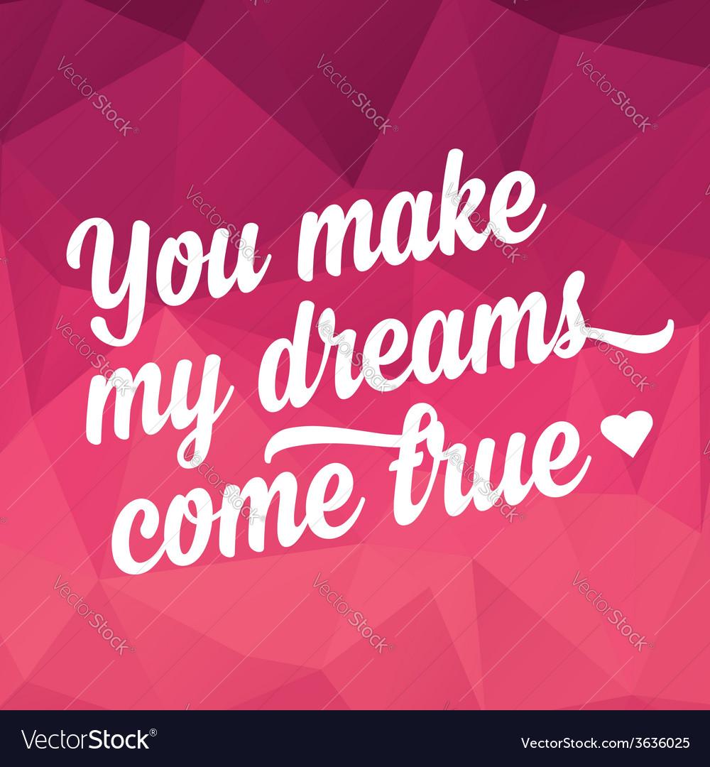 Valentines day postertypography love quote vector | Price: 1 Credit (USD $1)