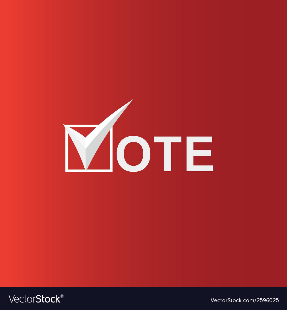 Voting symbols vector | Price: 1 Credit (USD $1)