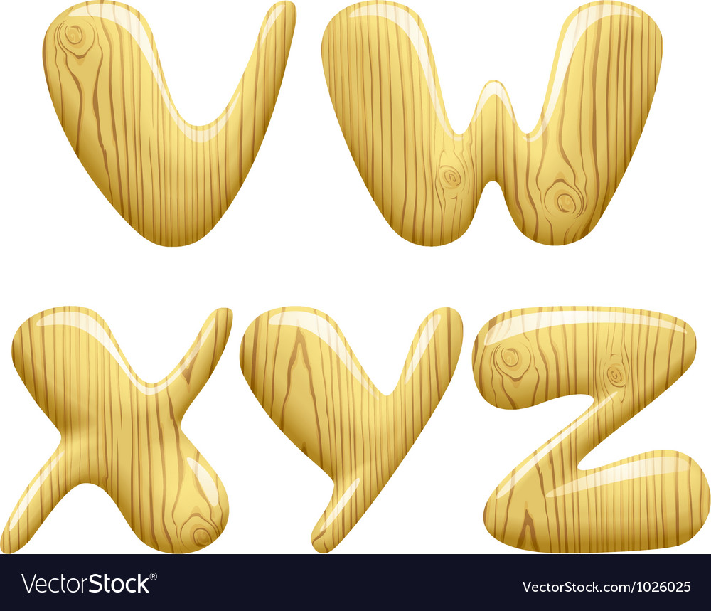 Wood alphabet letters vector | Price: 1 Credit (USD $1)