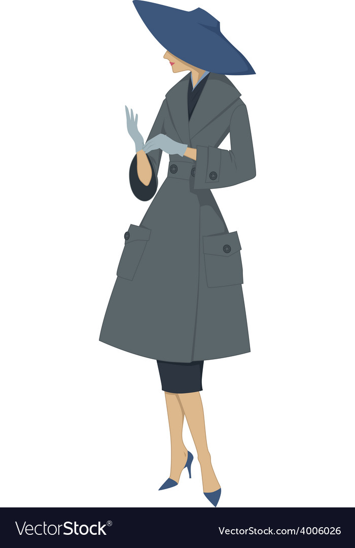 1950s woman vector | Price: 1 Credit (USD $1)