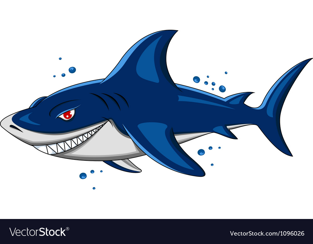 Angry shark vector | Price: 3 Credit (USD $3)