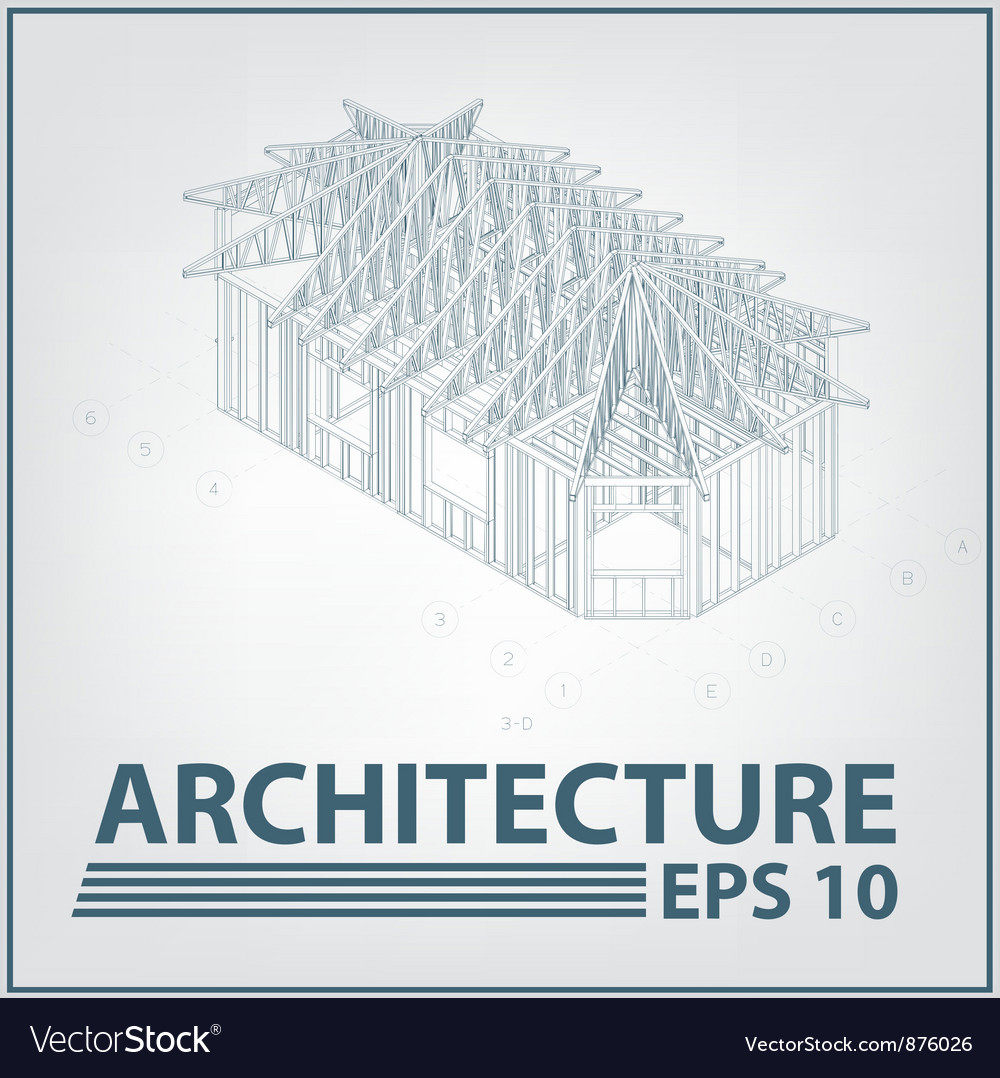Architecture house project vector | Price: 1 Credit (USD $1)