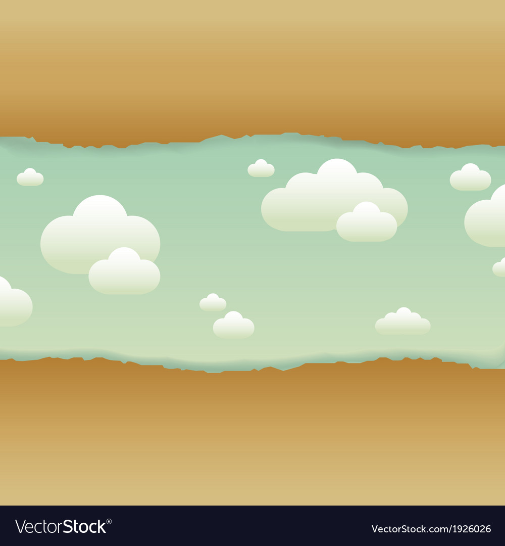 Clouds and old paper vector | Price: 1 Credit (USD $1)