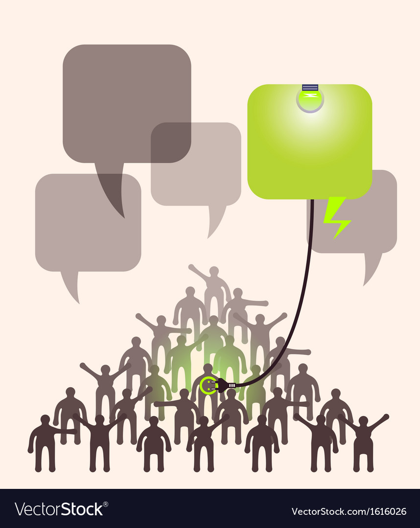 Crowd of people expressing special idea with vector | Price: 1 Credit (USD $1)