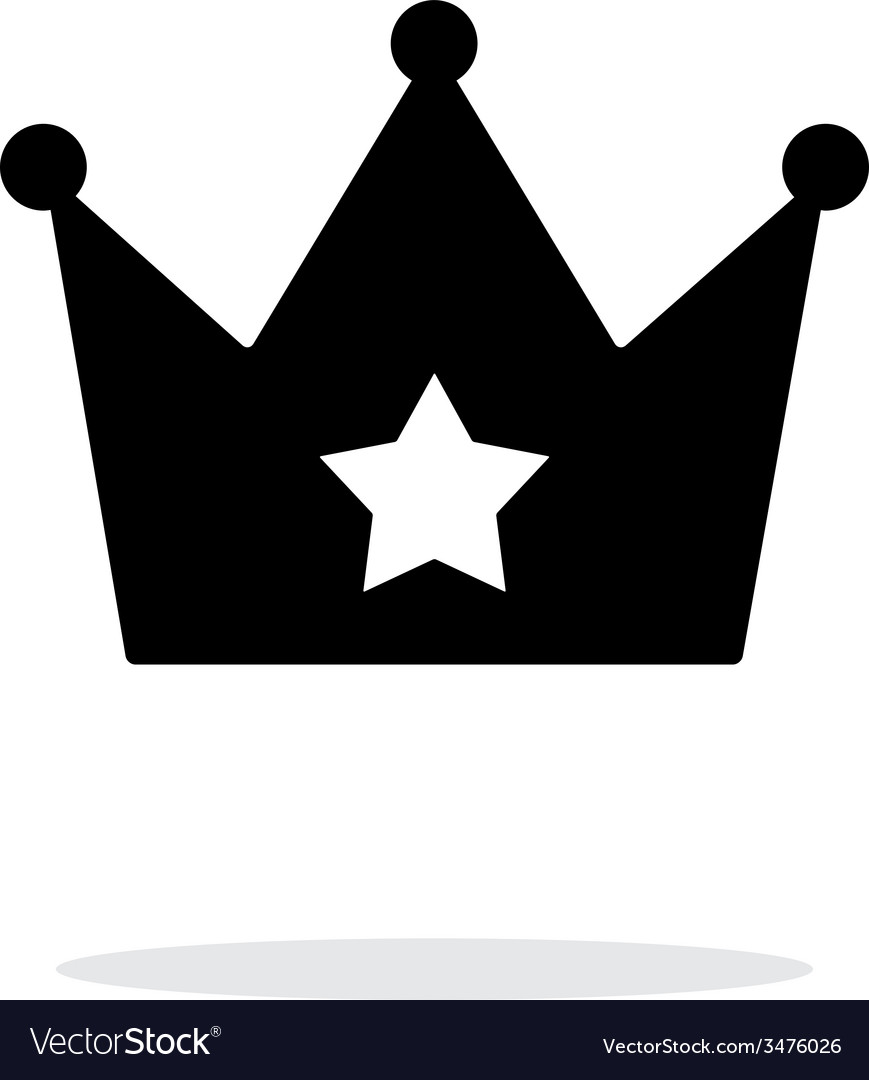 Crown simple icon on white background vector | Price: 1 Credit (USD $1)