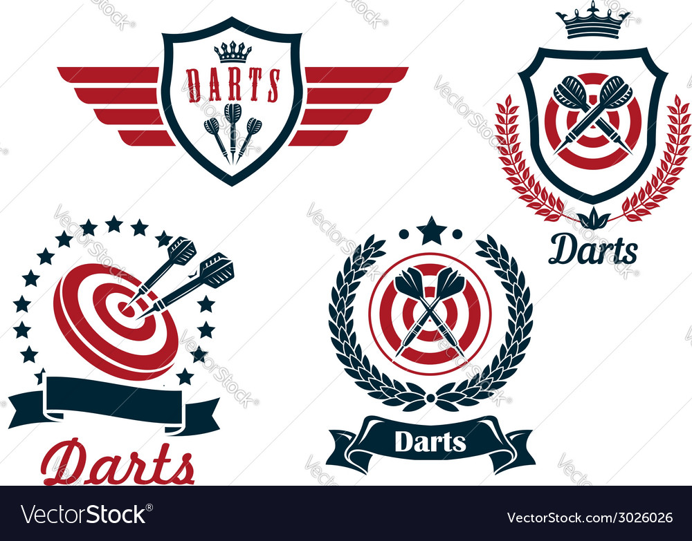 Darts heraldry emblems vector | Price: 1 Credit (USD $1)