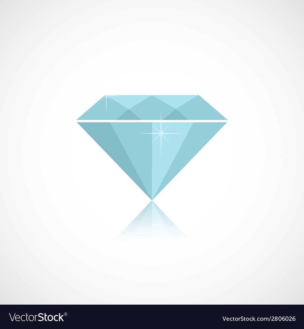 Diamond isolated on white vector | Price: 1 Credit (USD $1)