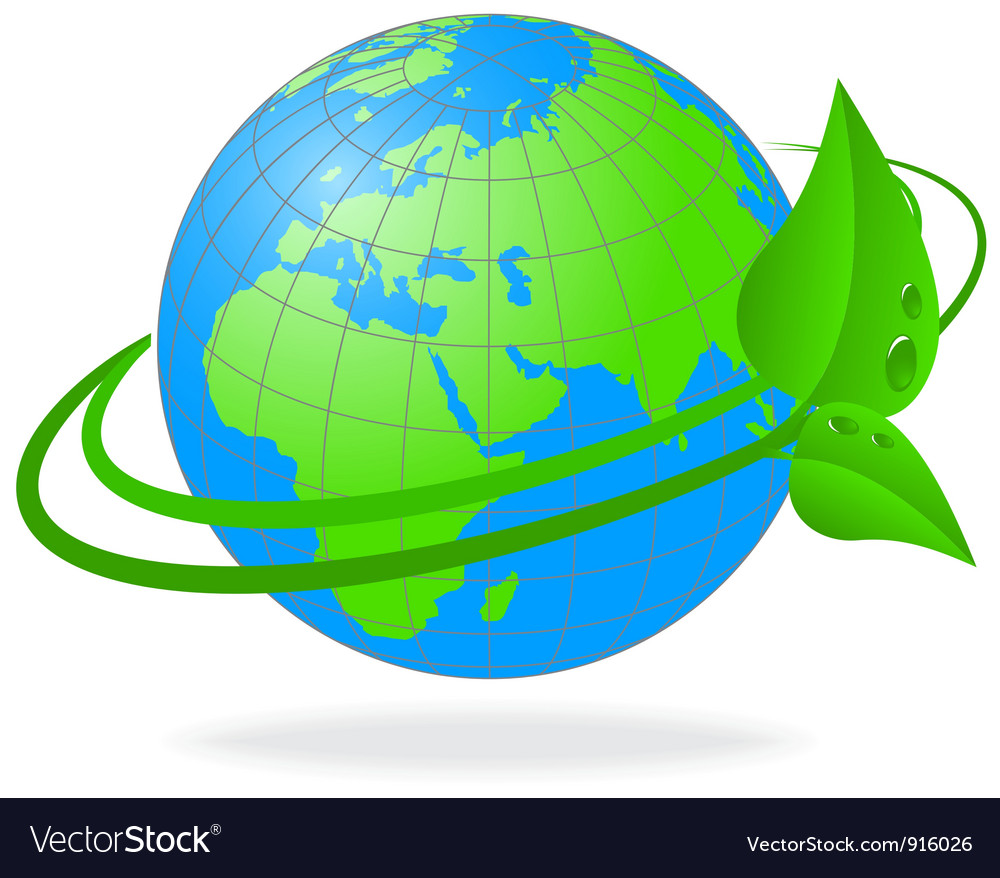 Ecology of the planet earth vector | Price: 1 Credit (USD $1)