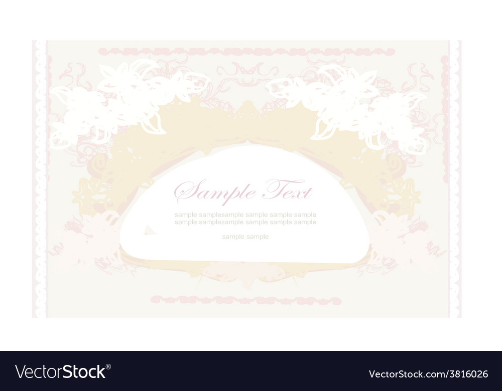 Elegant vintage frame card vector | Price: 1 Credit (USD $1)