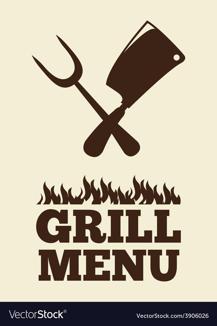 Grill menu vector   Price: 1 Credit (USD $1)