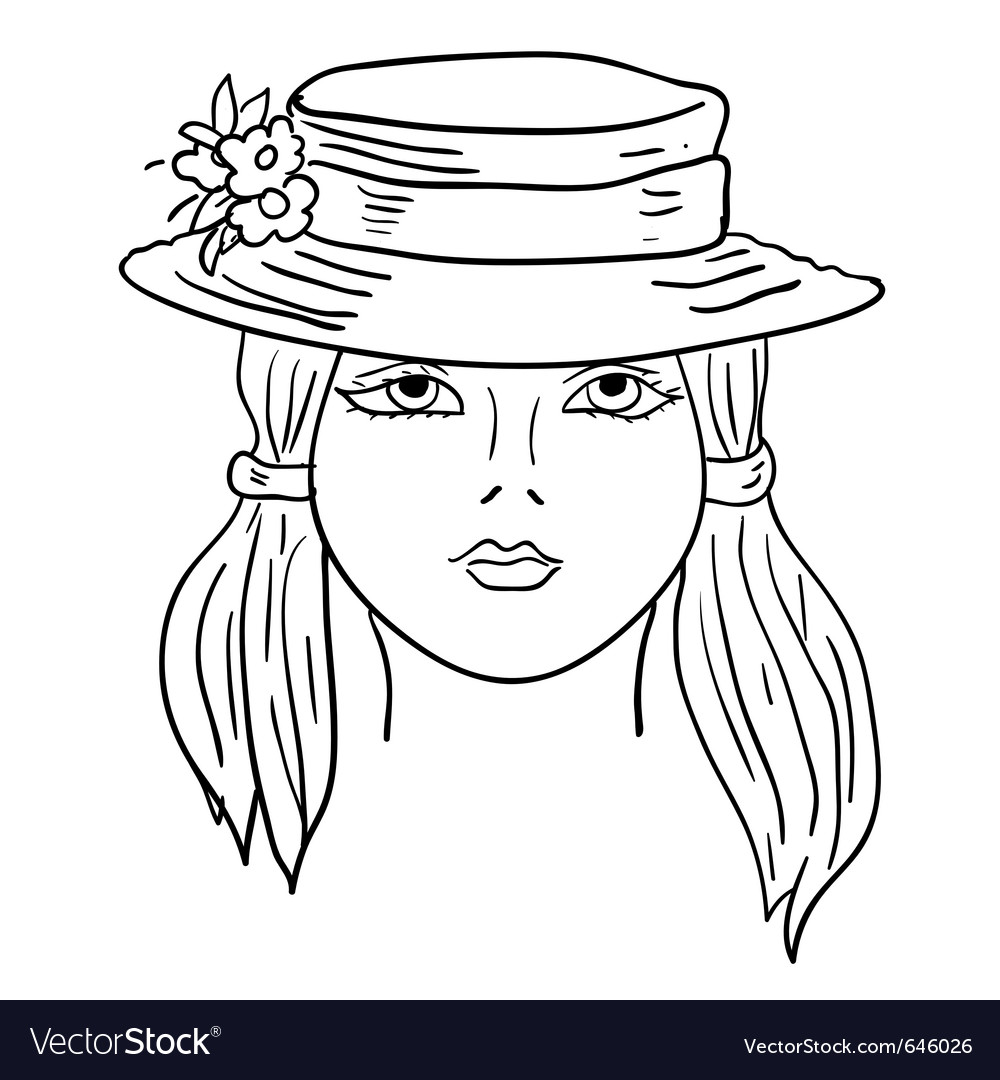 Hand-drawn fashion model vector | Price: 1 Credit (USD $1)