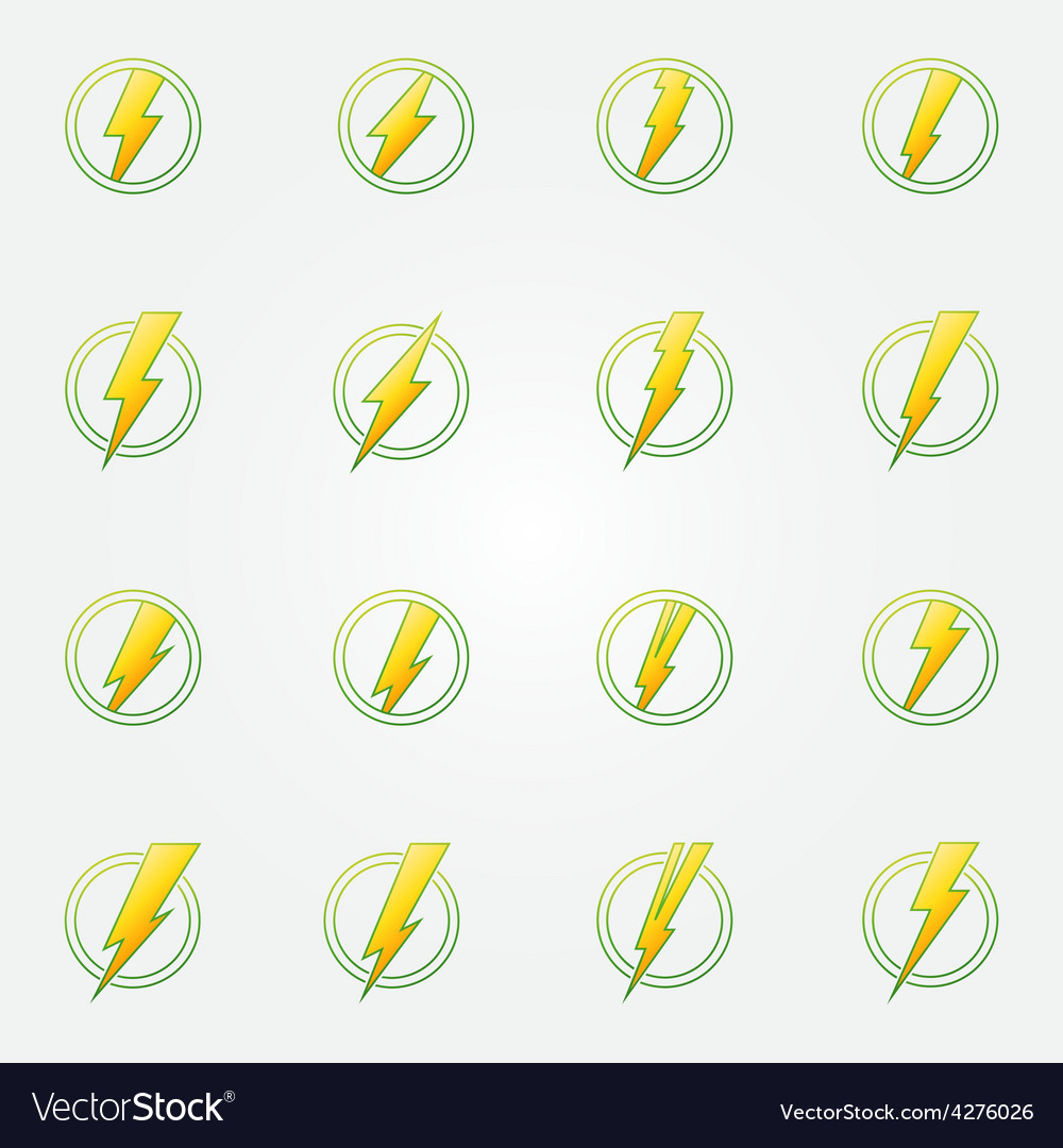 Lightning eco icons concept vector | Price: 1 Credit (USD $1)
