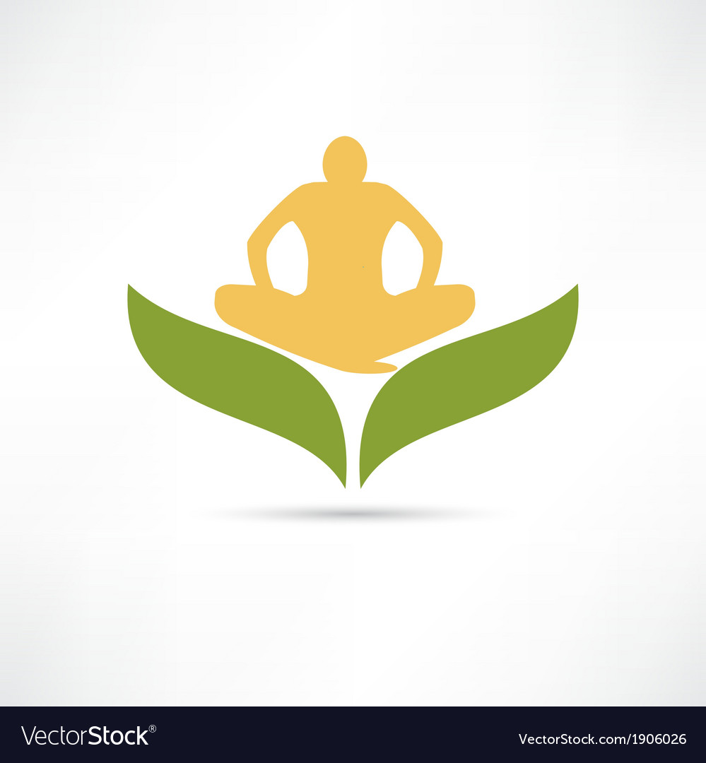 Lotus posture icon vector | Price: 1 Credit (USD $1)