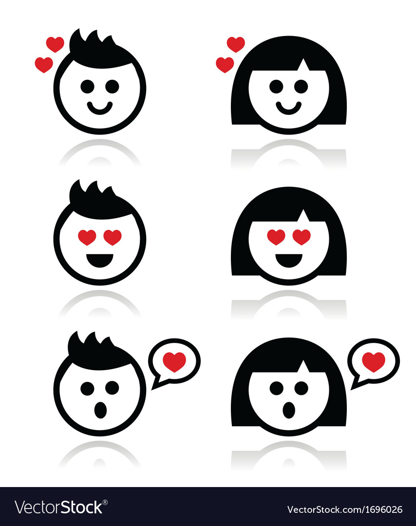 Man and woman in love icons set vector   Price: 1 Credit (USD $1)