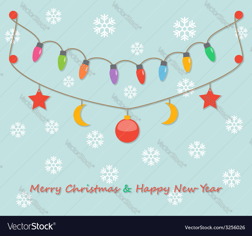 Party christmas light bulbs vector | Price: 1 Credit (USD $1)